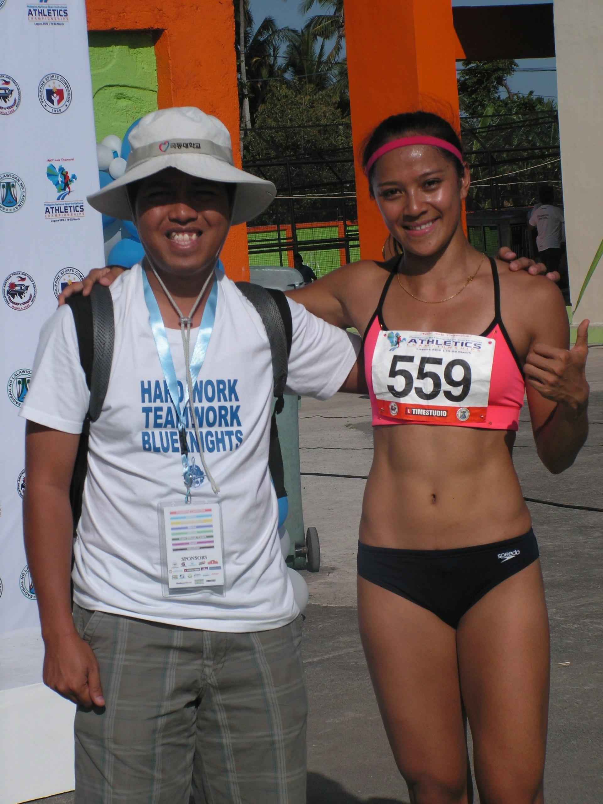 Runner Katherine Khay Santos