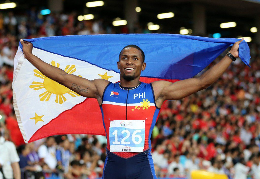 Edwin Cray at the SEA Games (Photo via Philippine Daily Inquirer)