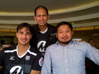With James Younghusband of FC Meralco and Mike Reyes of Socceroo FC